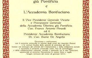 Gemellaggio Accademia Bonifaciana