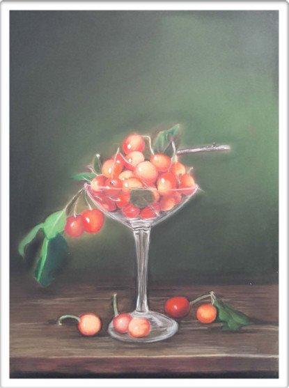 Calice con ciliegie
